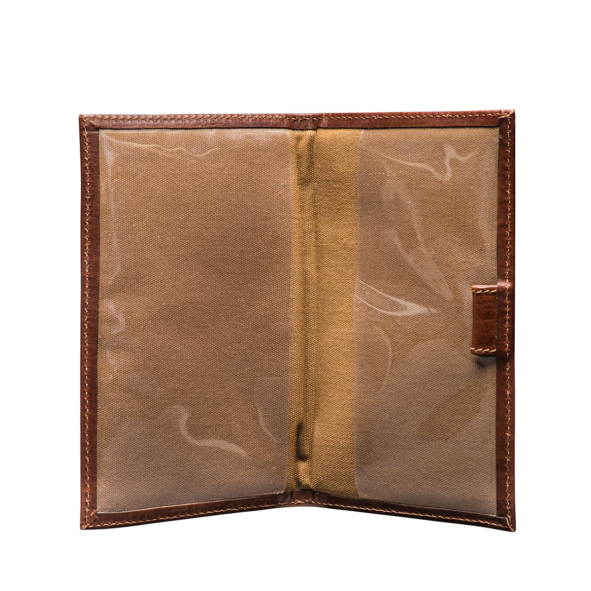 Image 3 of the 'Sestino' Chestnut Veg-Tanned Leather Golf Card Holder