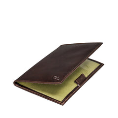 Image 4 of the 'Sestino' Dark Chocolate Veg-Tanned Leather Golf Card Holder