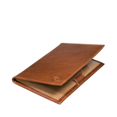 Image 4 of the 'Sestino' Chestnut Veg-Tanned Leather Golf Card Holder