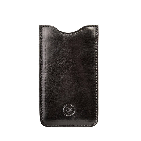 Image 1 of the 'Sasso' Black Veg-Tanned Leather S3 Size Case