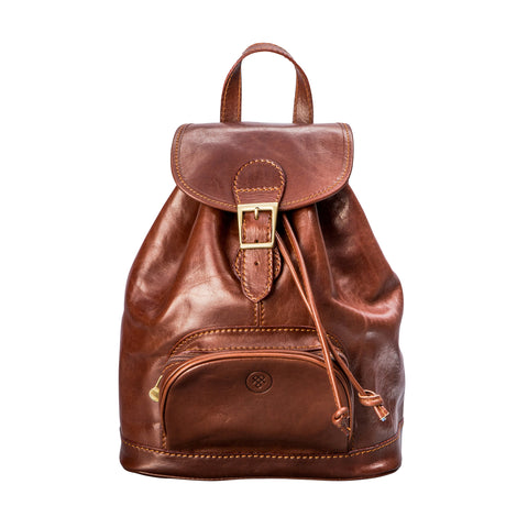 Image 1 of the 'Sparano' Chestnut Veg-Tanned Leather Backpack