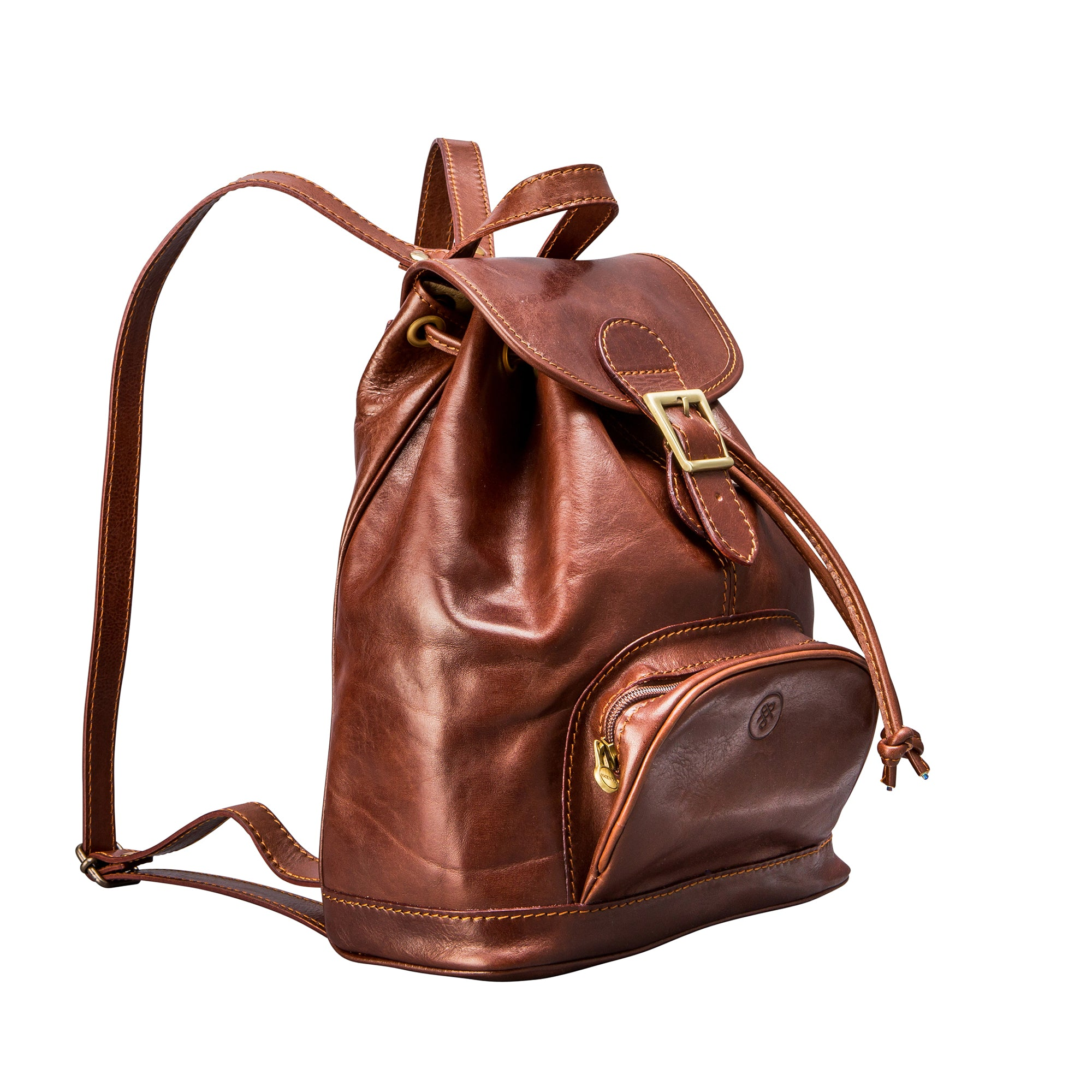 Image 2 of the 'Sparano' Chestnut Veg-Tanned Leather Backpack
