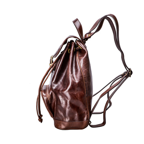 Image 2 of the 'Sparano' Dark Chocolate Veg-Tanned Leather Backpack