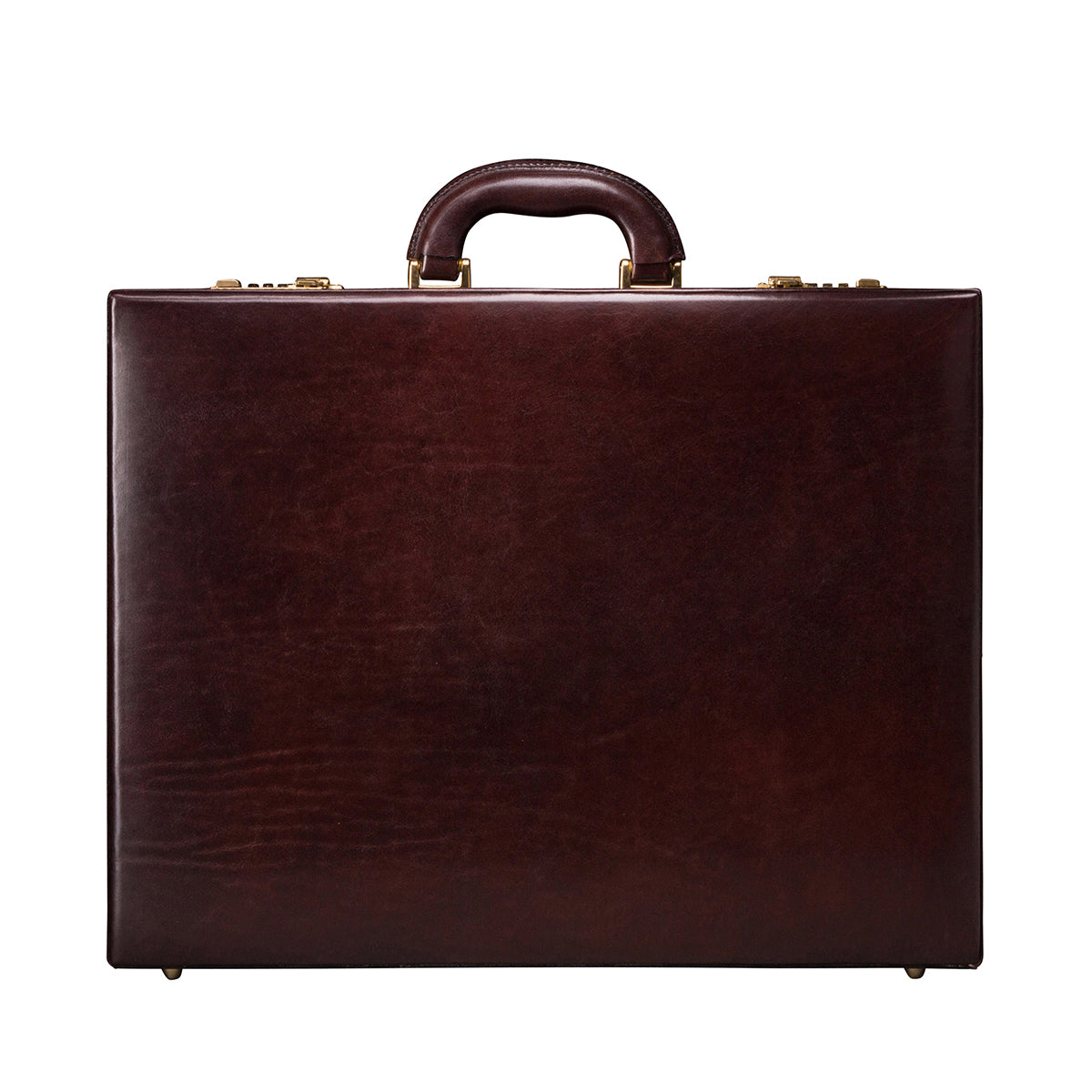 Image 1 of the 'Strada' Dark Chocolate Veg-Tanned Leather Business Attaché  Case
