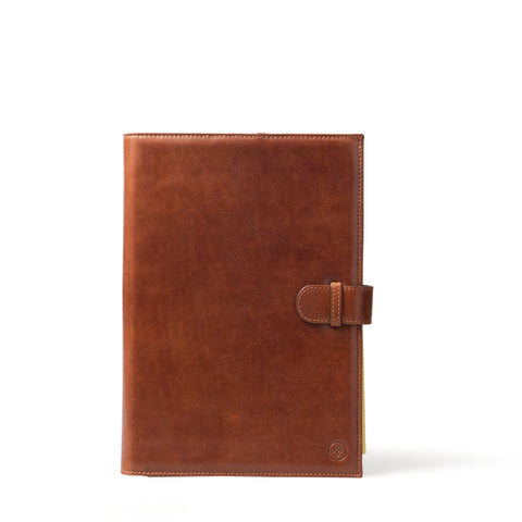 Image 1 of the 'Gallo' Chestnut Veg-Tanned Leather Prestige Business Folder