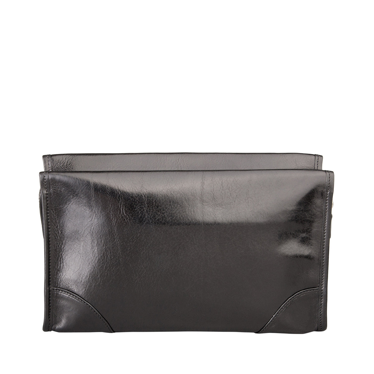 Image 4 of the 'Tanta' Black Veg-Tanned Leather Wash Bag
