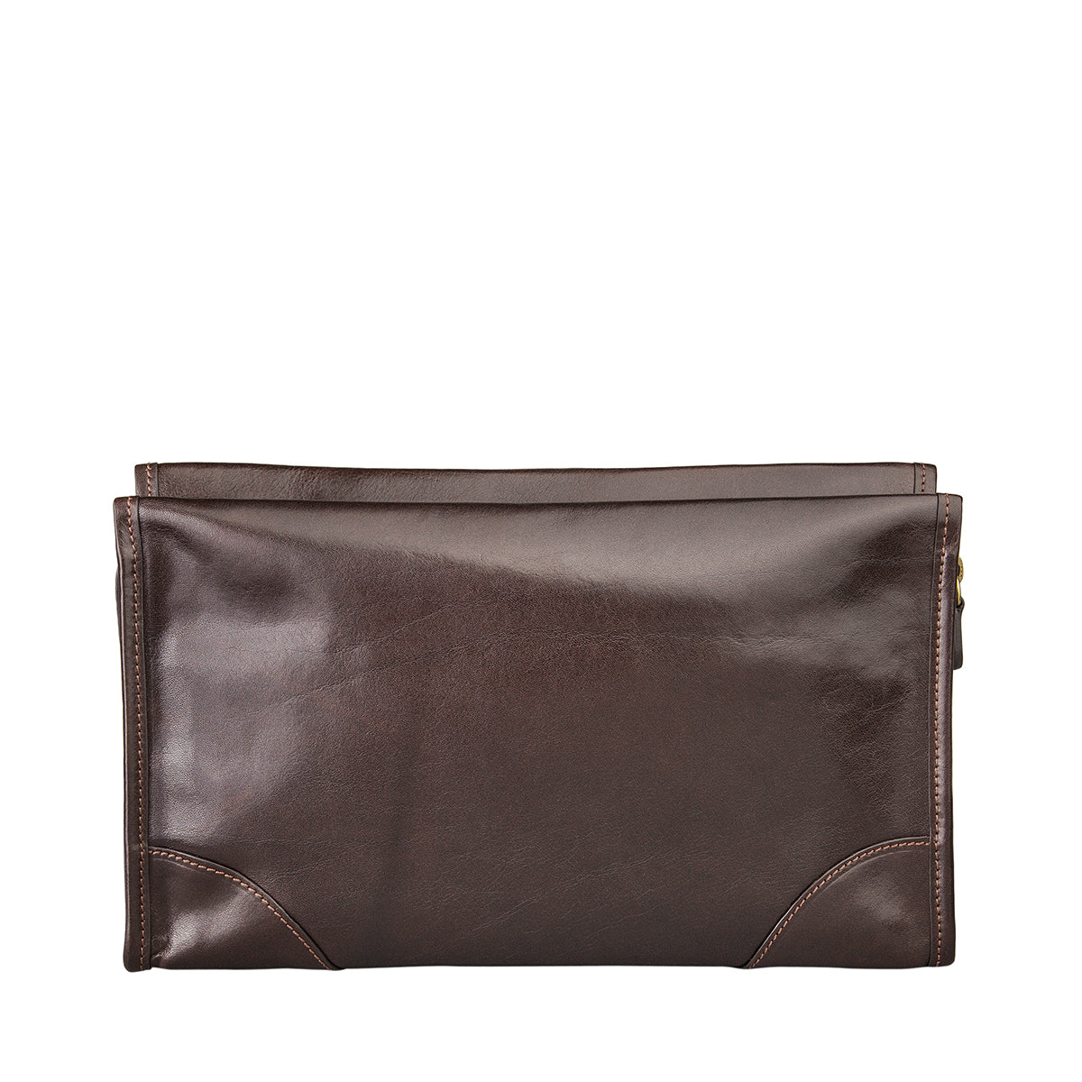 Image 4 of the 'Tanta' Brown Veg-Tanned Leather Wash Bag