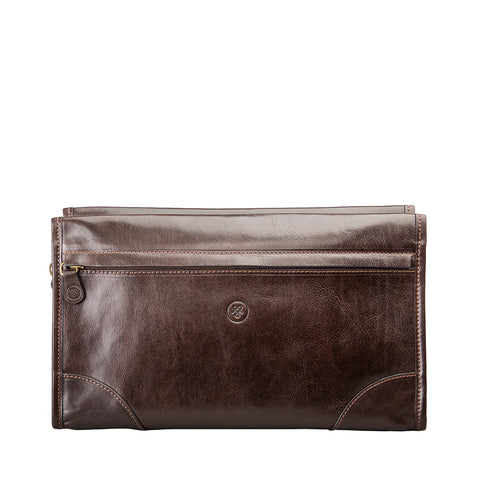 Image 1 of the 'Tanta' Brown Veg-Tanned Leather Wash Bag