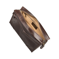 Image 5 of the 'Tanta' Brown Veg-Tanned Leather Wash Bag