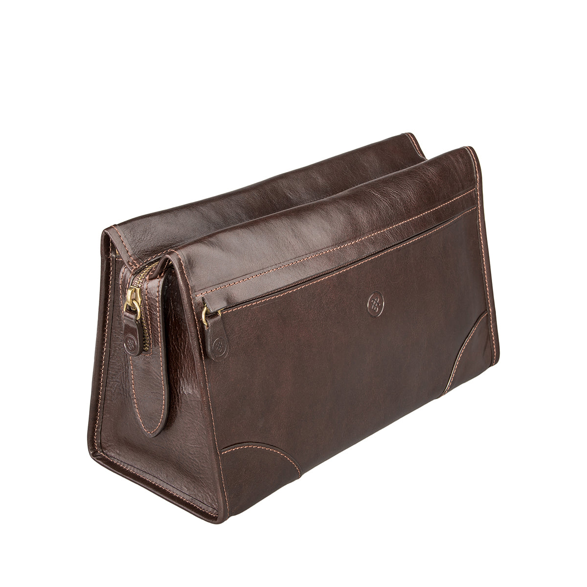 Image 2 of the 'Tanta' Brown Veg-Tanned Leather Wash Bag