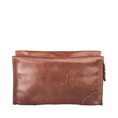 Image 4 of the 'Tanta' Chestnut Veg-Tanned Leather Wash Bag