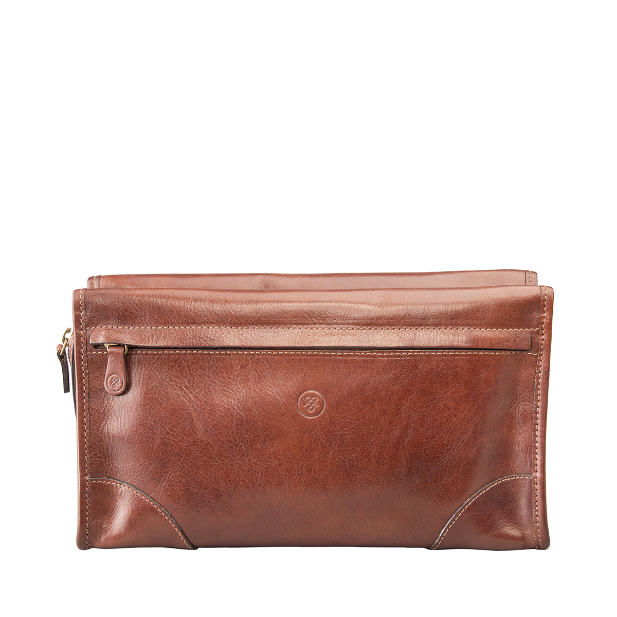 Image 1 of the 'Tanta' Chestnut Veg-Tanned Leather Wash Bag