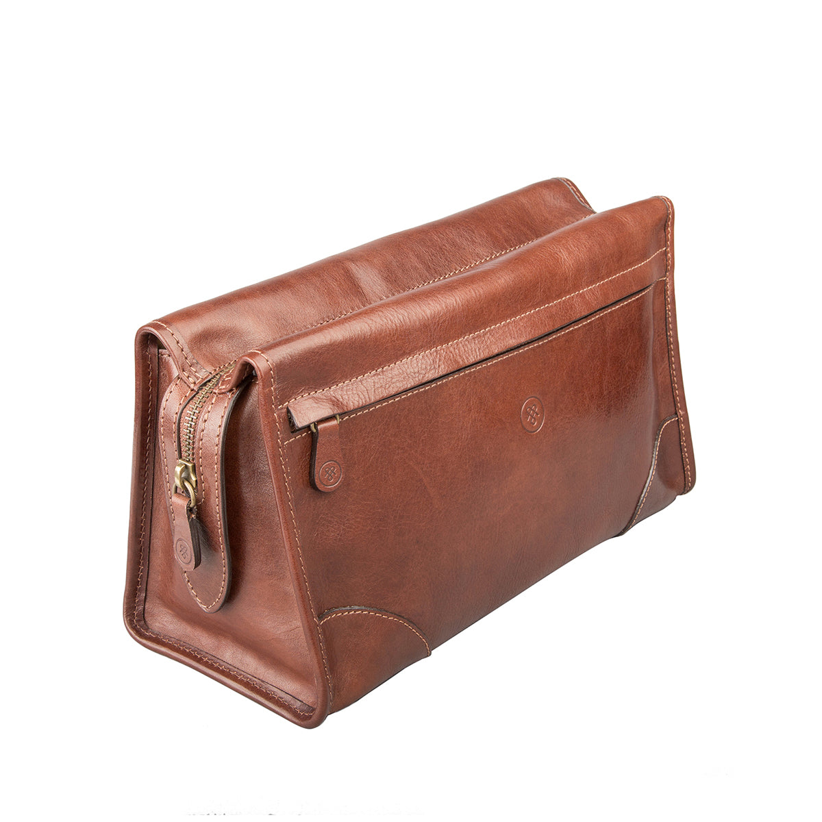 Image 2 of the 'Tanta' Chestnut Veg-Tanned Leather Wash Bag