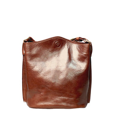 Image 4 of the 'Palermo' Tan Leather Bucket Bag
