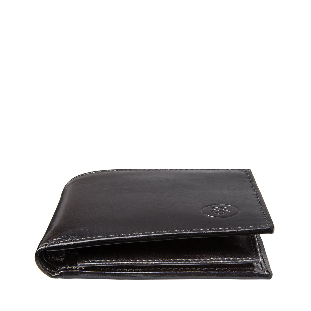 Image 6 of the 'Ticciano' Black Veg-Tanned Leather Wallet with Coin Pocket