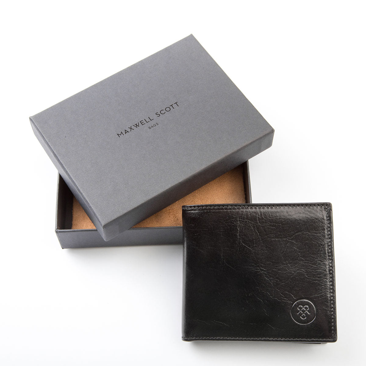 Image 7 of the 'Ticciano' Black Veg-Tanned Leather Wallet with Coin Pocket