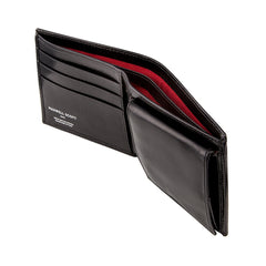 Image 4 of the 'Ticciano' Black Veg-Tanned Leather Wallet with Coin Pocket