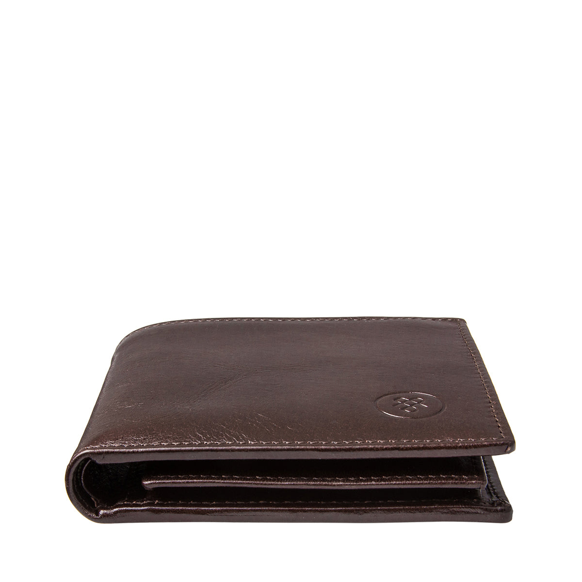 Image 6 of the 'Ticciano' Brown Veg-Tanned Leather Wallet with Coin Pocket