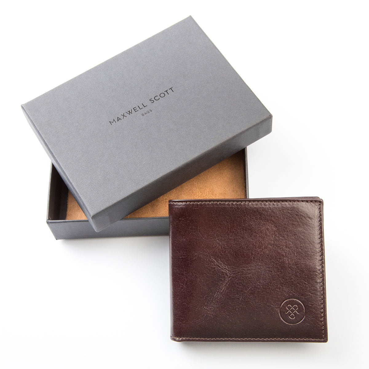 Image 8 of the 'Ticciano' Brown Veg-Tanned Leather Wallet with Coin Pocket