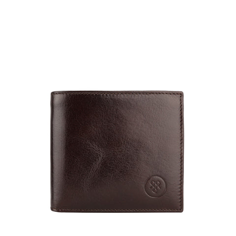 Image 1 of the 'Ticciano' Brown Veg-Tanned Leather Wallet with Coin Pocket
