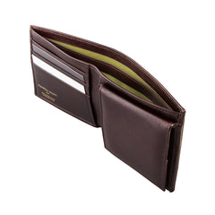 Image 3 of the 'Ticciano' Brown Veg-Tanned Leather Wallet with Coin Pocket