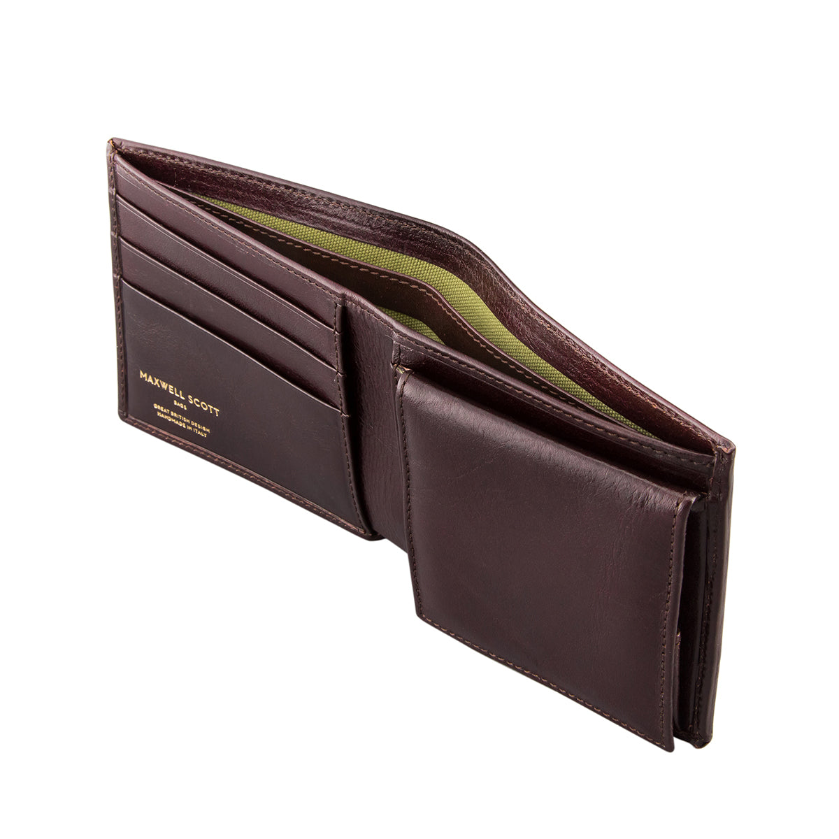 Image 4 of the 'Ticciano' Brown Veg-Tanned Leather Wallet with Coin Pocket