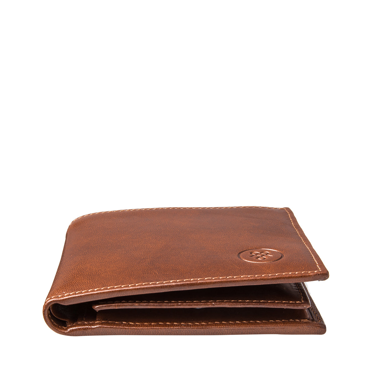 Image 6 of the 'Ticciano' Chestnut Veg-Tanned Leather Wallet with Coin Pocket