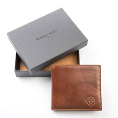 Image 8 of the 'Ticciano' Chestnut Veg-Tanned Leather Wallet with Coin Pocket