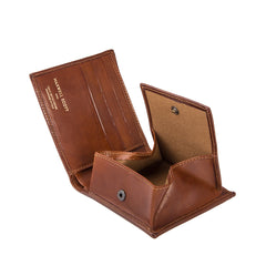 Image 5 of the 'Ticciano' Chestnut Veg-Tanned Leather Wallet with Coin Pocket