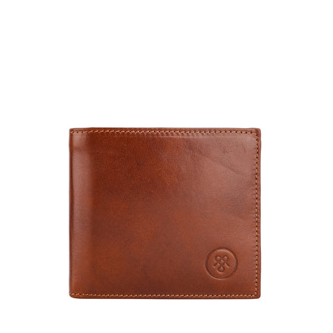 Image 1 of the 'Ticciano' Chestnut Veg-Tanned Leather Wallet with Coin Pocket