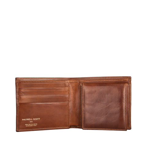 Image 2 of the 'Ticciano' Chestnut Veg-Tanned Leather Wallet with Coin Pocket