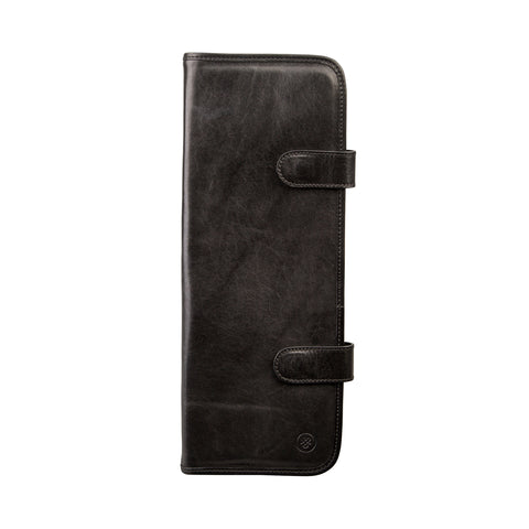 Image 1 of the 'Tivoli' Black Veg-Tanned Leather Tie Cover
