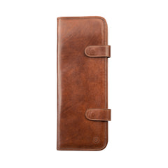 Image 1 of the 'Tivoli' Chestnut Veg-Tanned  Leather Tie Case