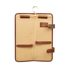 Image 4 of the 'Tivoli' Chestnut Veg-Tanned  Leather Tie Case