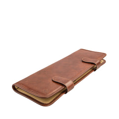Image 2 of the 'Tivoli' Chestnut Veg-Tanned  Leather Tie Case