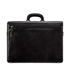 Image 4 of the 'Tomacelli' Handmade Black Veg-Tanned Briefcase