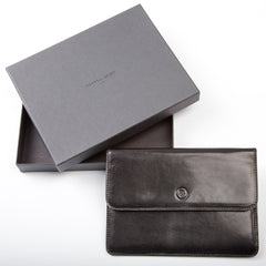 Image 7 of the 'Torrino' Black Veg-Tanned Leather Travel Wallet