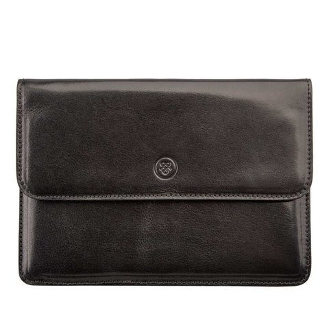 Image 1 of the 'Torrino' Black Veg-Tanned Leather Travel Wallet
