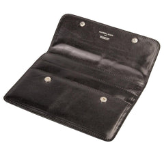 Image 5 of the 'Torrino' Black Veg-Tanned Leather Travel Wallet