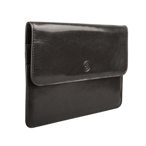 Image 2 of the 'Torrino' Black Veg-Tanned Leather Travel Wallet