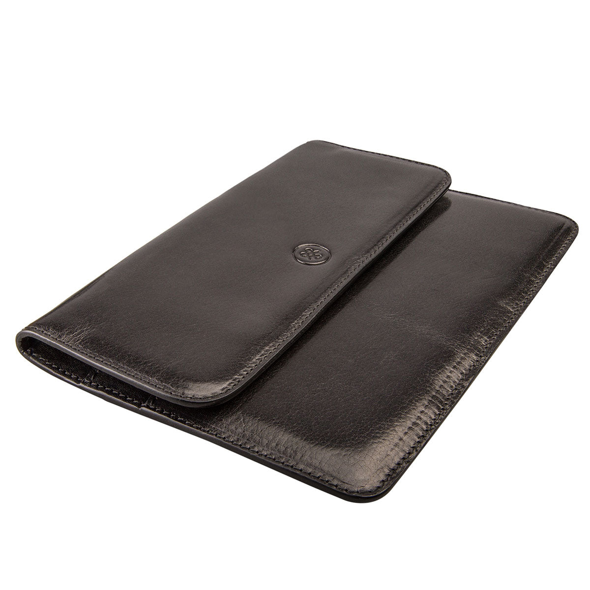 Image 4 of the 'Torrino' Black Veg-Tanned Leather Travel Wallet