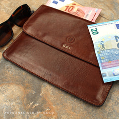 Image 8 of the 'Torrino' Black Veg-Tanned Leather Travel Wallet