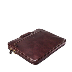 Image 4 of the 'Tutti' Dark Chocolate Veg-Tanned Leather Document Folio