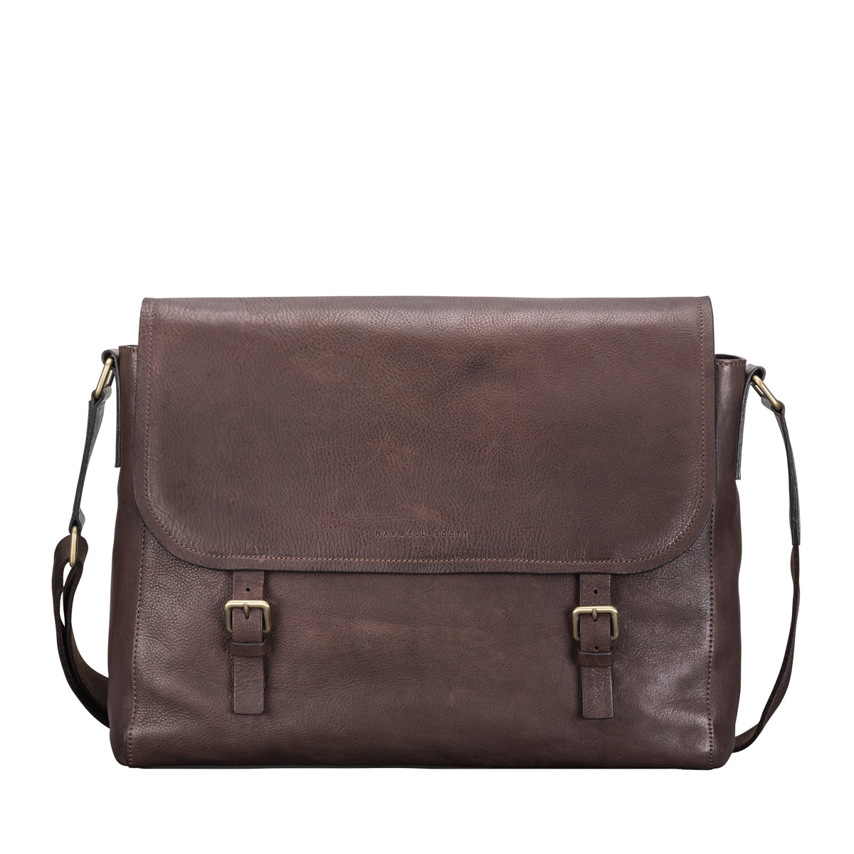 Image 1 of the 'Ravenna' Brown Leather Classic Men's Satchel Bag