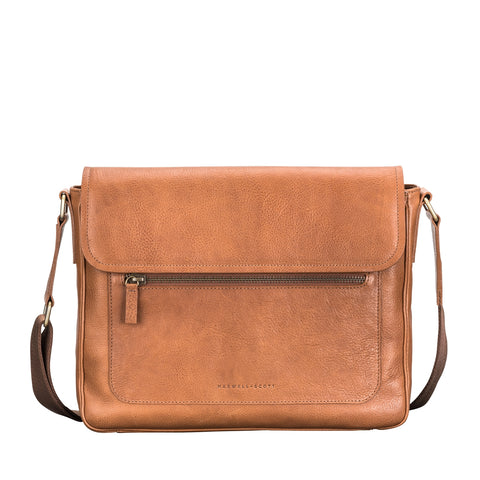 Image 1 of the 'Livorno' Camel Leather Satchel