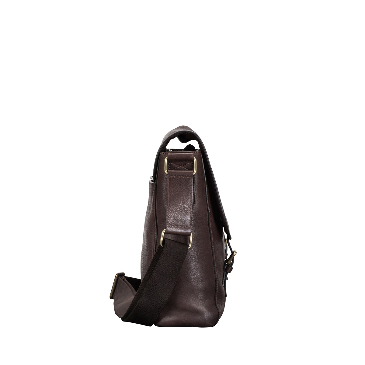Image 3 of the 'Ravenna' Brown Leather Classic Men's Satchel Bag