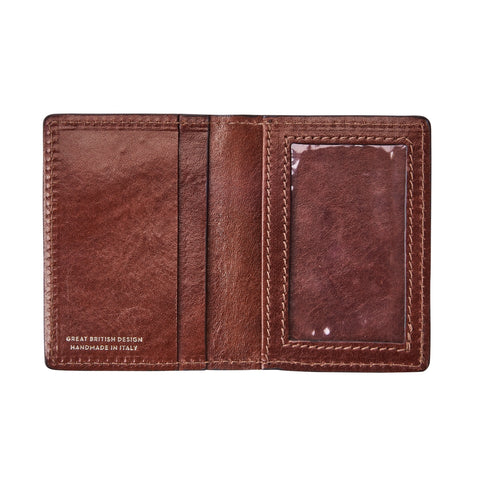 Image 2 of the 'Vallata' Chestnut Veg-Tanned Leather Oyster Card Holder
