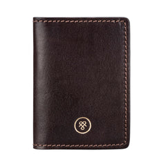 Image 1 of the 'Vallata' Brown Veg-Tanned Leather Oyster Card Holder