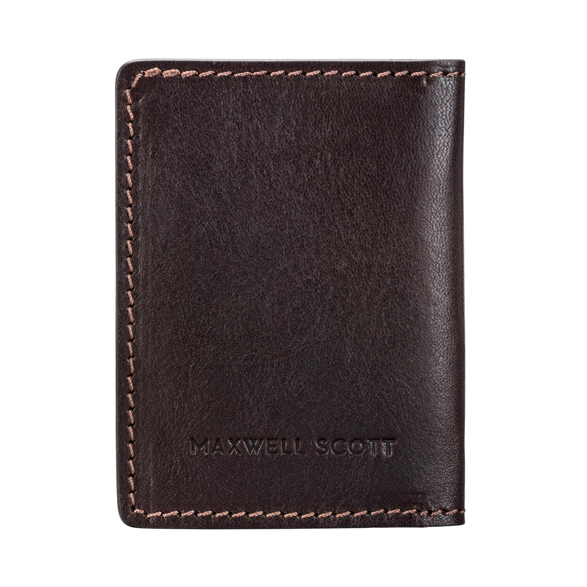 Image 3 of the 'Vallata' Brown Veg-Tanned Leather Oyster Card Holder