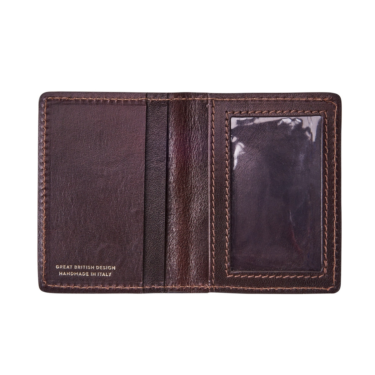 Image 2 of the 'Vallata' Brown Veg-Tanned Leather Oyster Card Holder